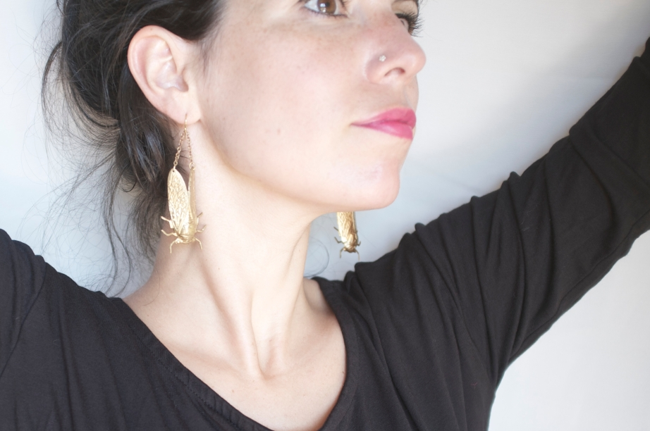 larissa loden - cicada brass earrings